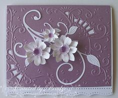 Baukje's Cards and Crafts: Lilac and White baukj card, card idea, card craft, greet card, cat galleri, white, craft idea, inspir, fat cats