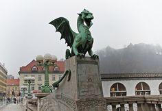 "Ljubljana has not one but four dragons guarding the, ""Dragon Bridge"" (one of the earliest asphalt bridges in Slovenia)"