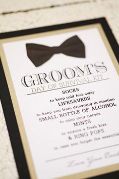 Groom's Survival Kit Card