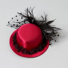 Hat with Feathers Fascinator Hair Accessory | Claire's---haha I think these are kinda awesome and remind me of England and of the Kentucky Derby.