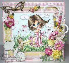 "Saturated Canary ""Springtime"" image created by Eulanda Silvey.  http://eulandasilvey.blogspot.ca/2013/02/springtime-saturated-canary.html #cards #saturated canary"