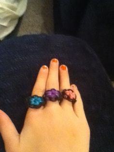 My rainbow loom rings