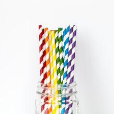 Striped Straws Rainb