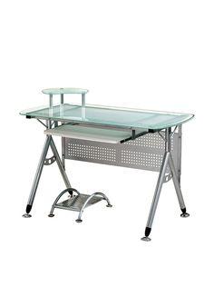 Techni Mobili Glass Computer Desk Frostedwww Myhabit Com