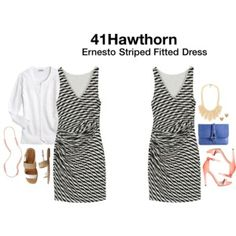 Ernesto Striped Fit and Flare Dress