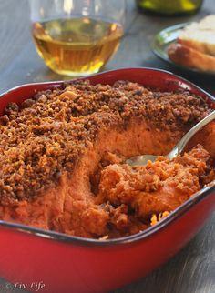 Irresistible Orange Sweet Potatoes with Almond Streusel