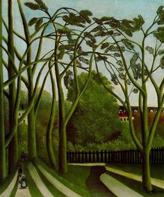 Landscape on the Banks of the Bievre at Becetre - Henri Rousseau