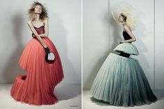 Viktor and Rolf's spring 2010 - cut-out tulle