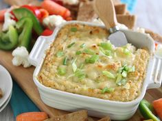 Cheesy, Garlicky Roasted Cauliflower Cheddar Dip - HelloNatural.co
