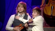 Celtic Thunder Voyage II -  'You've got a friend in me' Young guest performer Daniel Furlong trying to be a friend with Keith Harkin