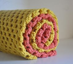 2 Solid Color  Baby Blankets Granny Square by AllThingsGranny