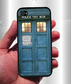 TARDIS Doctor Who iPhone Case - Rubber Silicone iPhone 4 Case or Plastic iPhone 5 Case. $13.95, via Etsy.