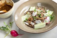 Buckwheat Noodles With Ginger and Miso by David Tanis