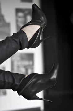 balmain black ankle bootie