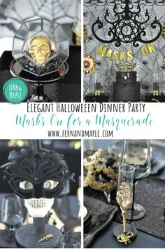 If you are looking for a glamorous way to celebrate this year's Halloween festivities look no further than this Halloween Masquerade! #halloweenparty #halloween #party #masqueradeparty #partyideas