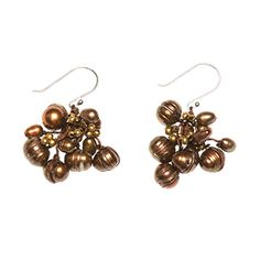 @WorldCrafts {Samaritan Pearl Earrings ~ Samaritan Creations ~ Thailand} Shimmering and glamorous, these earrings are made by women finding hope and empowerment through Samaritan Creations. Made from freshwater cultured bronze pearls, this lightweight pair of earrings adds a touch of elegance! Samaritan Creations seeks to provide women an escape from a life of darkness, and holistically support them, not only to make an income, but also to show them hope and love. #fairtrade #supportfreedom
