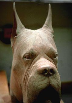 carved dog