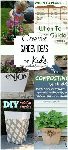 Creative Garden Ideas for Kids... LOVE IT!