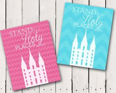 2013 LDS Young Women Men theme Salt Lake Temple Stand Ye in Holy Places D 87:8