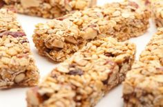 Homemade healthy granola bars.