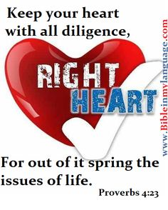 The issues of the heart are the heart issues!