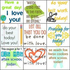 lunchbox notes Free printable