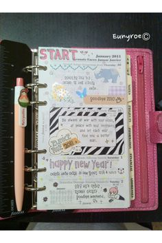 Filofax Organizer - Looks just like a daytimer with a very similar look to the popular Smash Books - I never thought of scrapbooking mine...