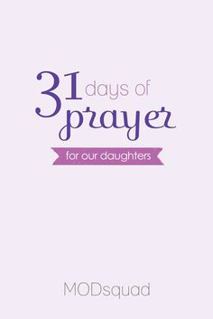 31 days of prayer for daughters