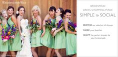 WEDDINGTON WAY is an online bridesmaid boutique dedicated to making dress shopping simple. Social shopping features connect bridal parties  to make sharing, comparing, & ordering favorite dresses easy. The site consolidates each step of the dress shopping process to eliminate the stress, time demands and legwork needed to coordinate busy schedules. Weddington Way makes bridesmaid dress shopping convenient to ensure that each bridesmaid feels beautiful & confident on the day of the wedding!