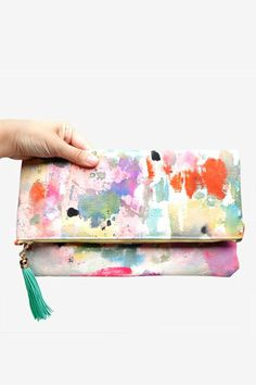 Watercolor Clutch | Creative Girl Gift Guide | Camille Styles