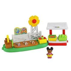 Little People Growing Garden and Farm Stand Playset. A playset toy for children to play and having fun with their imagination.