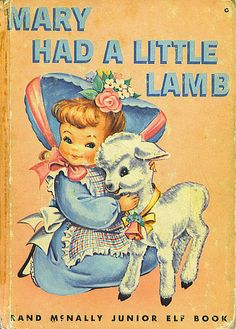 vintage book mary had a little lamb