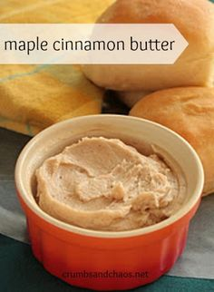 Maple Cinnamon Butter. #food #maple #butter #spreads