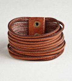 Leather bracelet..
