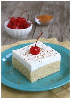 Tres Leches Cake (3 Milk Cake) from Brenda at A Farmgirl's Dabbles blog.  http://www.afarmgirlsdabbles.com/2011/04/29/tres-leches-cake/