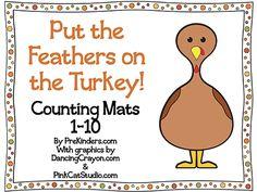 free printable Turkey Play Dough Math Mats