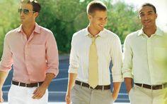 pastel, dress, white pants, men fashion, men clothes
