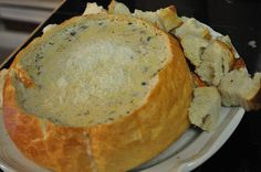 Homemade Clam Chowder in a Bread bowl