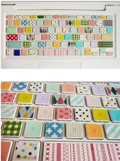 funny keyboard, decorated with washi tape