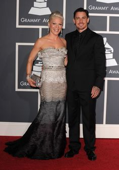 Some couples just look f***in' perfect on the red carpet. Pink and Carey Hart arrive at the 52nd GRAMMY Awards in 2010