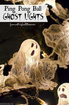 Ping Pong Ball Ghost Lights for Halloween