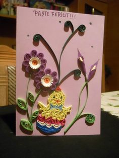 paper quill, easter quill, quill art, quill anim