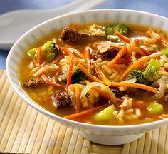 soups, weight watcher, teriyaki beef, 200 calories, food, beef recip, beef soup, soup recip, green onions