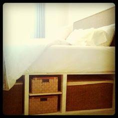 DIY Storage bed frame.