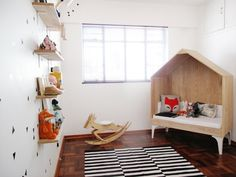 """House bed"" in Nina's Little House Nursery"
