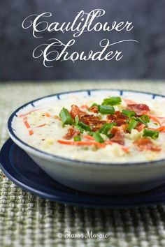 Cauliflower Chowder #SundaySupper from Flavor Mosaic is a creamy, comforting, budget-friendly chowder that is perfect for a cold night or a #SundaySupper!