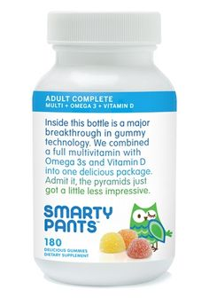 All-in-One Gummy Vitamins for Adults - not really a vitamin person until a friend introduced me to these. OMG. LOVE Smarty Pants!