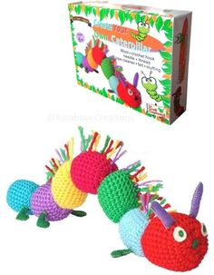 Children's Crochet Kit - all included to crochet a caterpillar - a good way to learn!