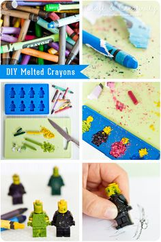 DIY Melted LEGO Minifig Crayons by Craft & Creativity