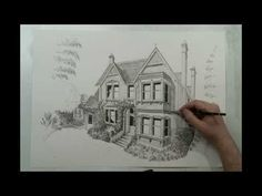 How to draw a house - House Portrait in 90 seconds by Eli Ofir